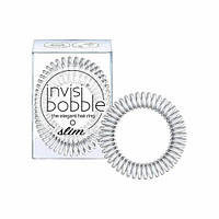 Оригинал! Invisibobble Резинка-браслет для волос SLIM Chrome Sweet Chrome (цена за 1 шт.)