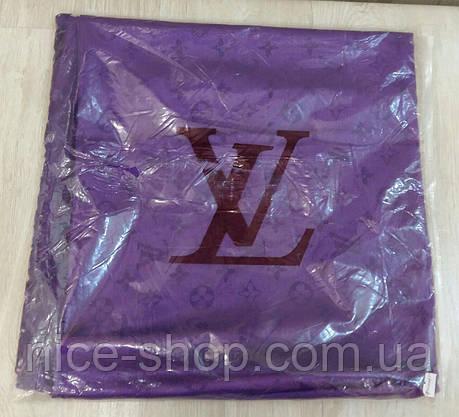 Платок Louis Vuitton фиолетовый, фото 3