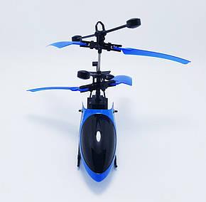 Летающий usb вертолет c сенсорным управлением рукой Синий, фото 2