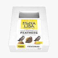 "Mona Lisa - Декор из тёмного шоколада ""Перья"" - 240 гр"