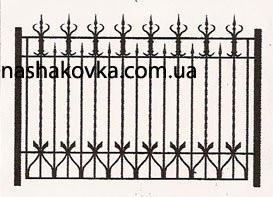 Забор кованый с рисунком