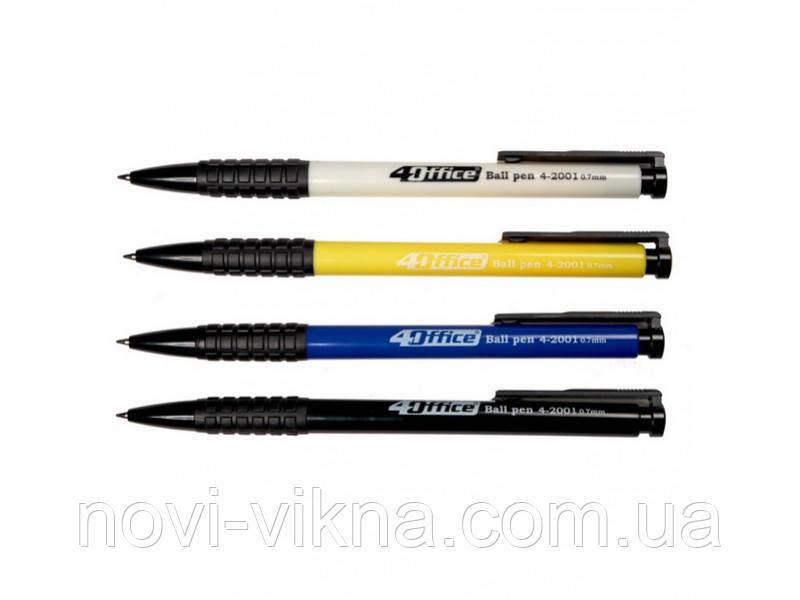 Ручка шариковая 4Office Ball pen автоматическая 4-2001 синяя