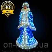 "3D фигура светодиодная ""Снегурочка"" 1.8х0.85м, 65 Вт"