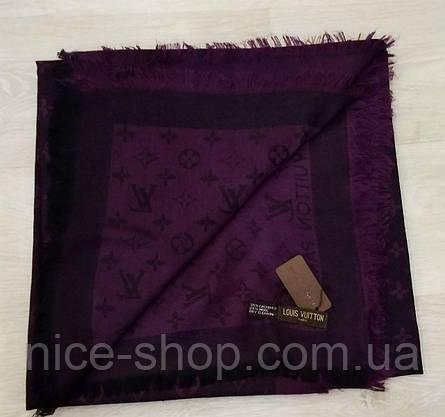 Платок Louis Vuitton черничный комби, фото 2