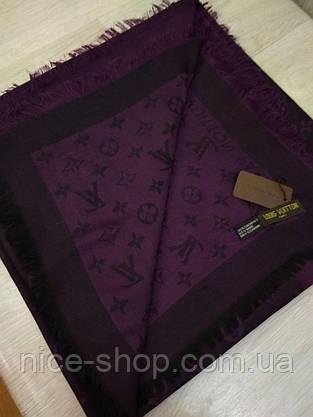 Платок Louis Vuitton черничный комби, фото 3