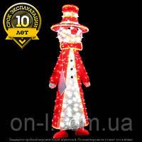 """3D фигура светодиодная """"Снеговик в красном"""""""