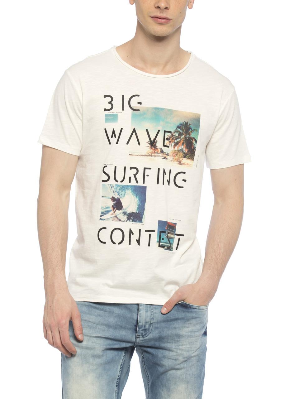 Мужская футболка LC Waikiki / ЛС Вайкики с надписью Big wave Surfing contest