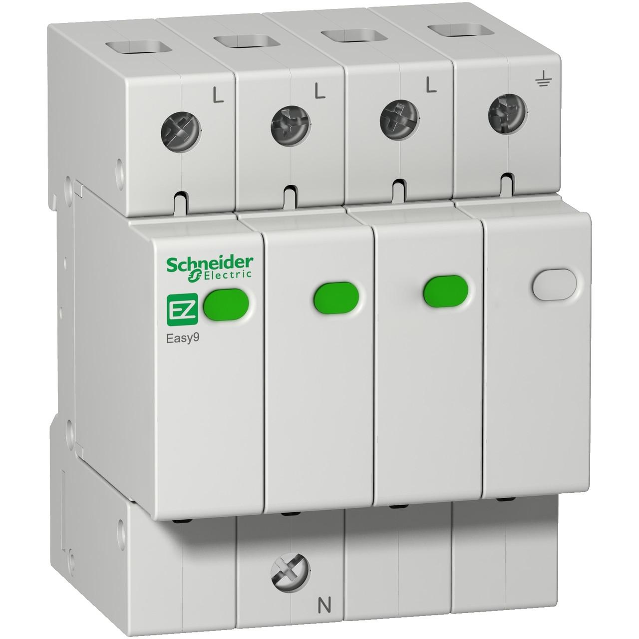 Устройство защиты от импульсных перенапряжений EZ9L33720 Easy9 Schneider 3P+N/20кА/10кА/1,3кВ