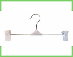 Вешалки плечики тремпеля с прищепками для брюк и юбок 35 см