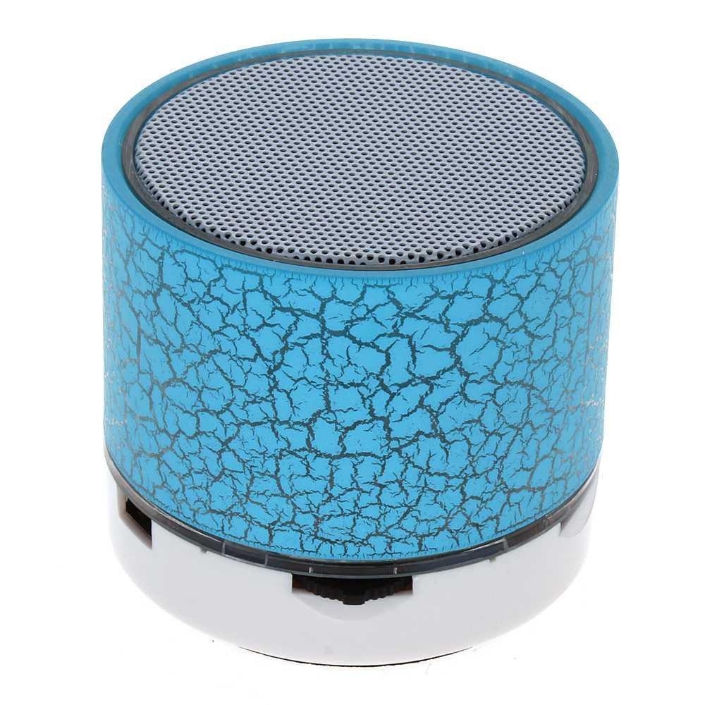 Портативная Bluetooth колонка SPS S60 с LED подсветкой голубой