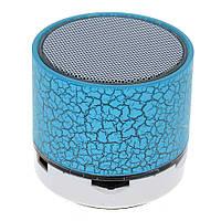 Портативная Bluetooth колонка SPS S60 с LED подсветкой голубой, фото 1