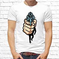 Мужская футболка с принтом Пистолет Push IT