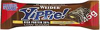 Протеиновый батончик WEIDER Yippie! 45 g Brownie-Vanilla