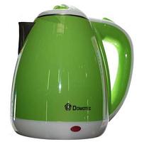 Электрочайник пластиковый дисковый 1.8л 1500Вт DOMOTEC DT-901, фото 1