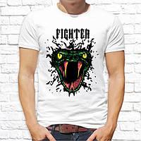 """Мужская футболка с принтом Кобра """"Fighter"""" Push IT"""