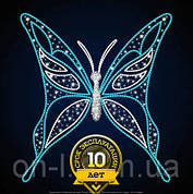 """3D фигура светодиодная """"Бабочка острокрылая"""" бело-голубая"""