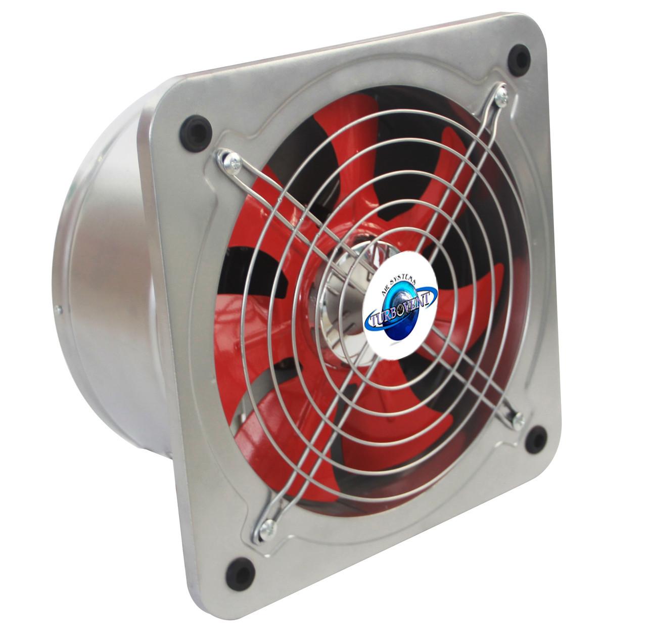 Настінний осьовий вентилятор з зворотним клапаном Турбовент НОК 350