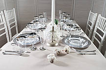 Набор посуды стеклопластик Capital For People белый с серебром 116 предметов (DD-32)