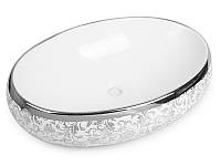 Умывальник Newarc Countertop 5015S-W, серебро декор