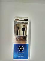 Магнитный кабель Lightning для IPhone, Подсветка, Неубиваемая оплетка