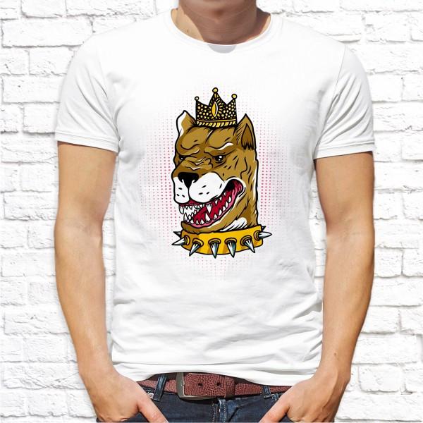 Мужская футболка с принтом Пес король Push IT