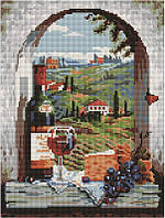 Алмазная мозаика Вино и фрукты, 30x40 см, Brushme (Брашми)
