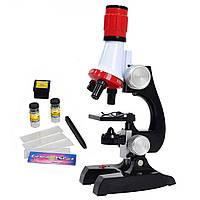 Детский микроскоп 2 в 1 с подсветкой 100-1200х C2121
