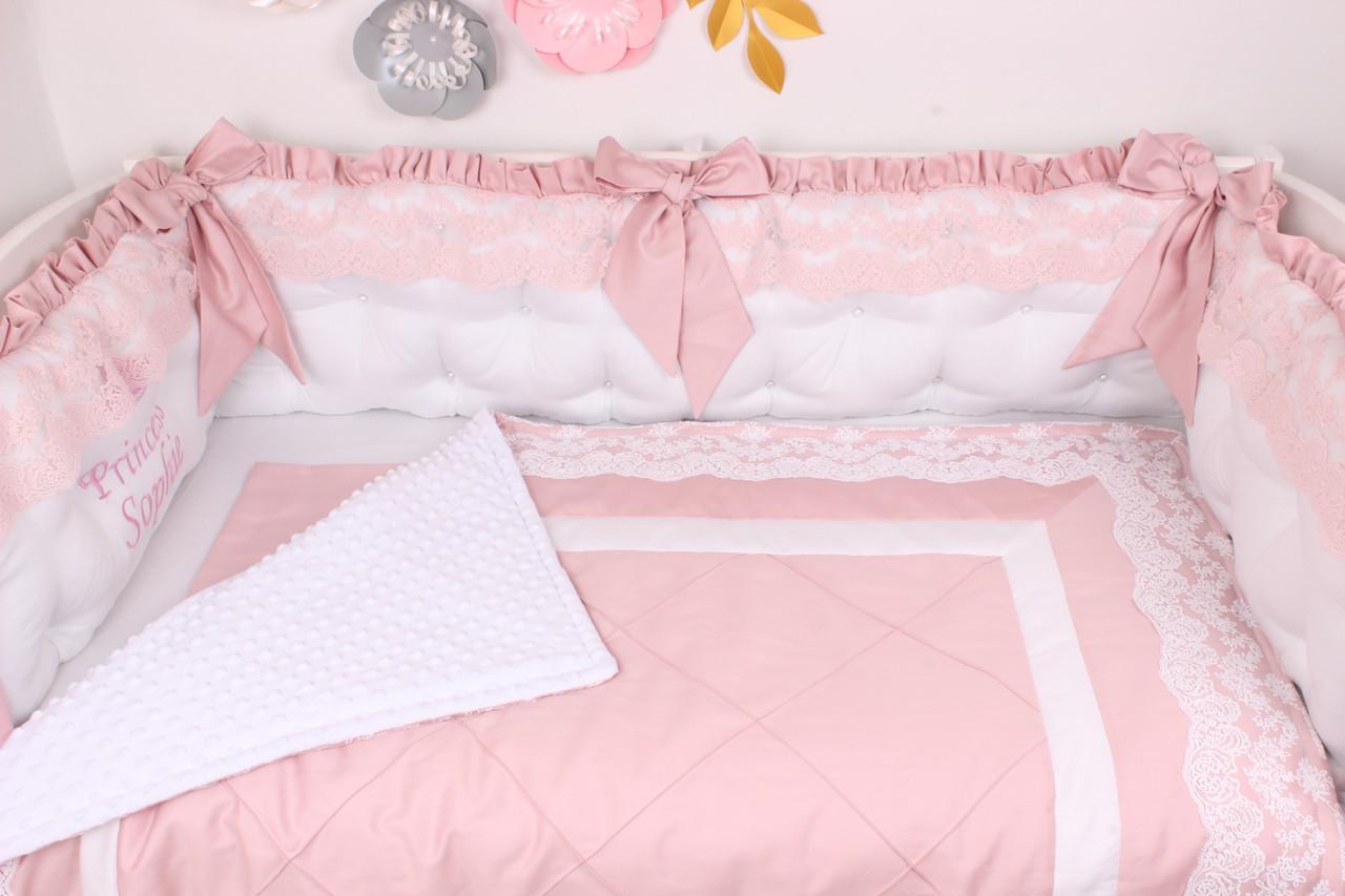 Нежный комплект в кроватку для Принцессы