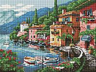 Алмазная мозаика Набережная у города, 30x40 см, фото 1