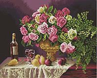 Алмазная мозаика Натюрморт с розами, 40x50 см, Brushme (Брашми), фото 1