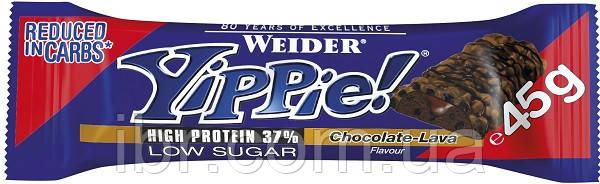Протеиновый батончик WEIDER Yippie! 45 g Chocolate-Lava