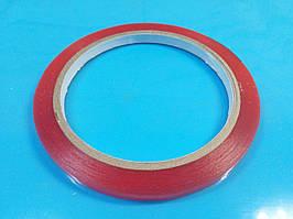 Двосторонній скотч акриловий, товщина 0.2 мм, ширина 2мм, довжина 10м
