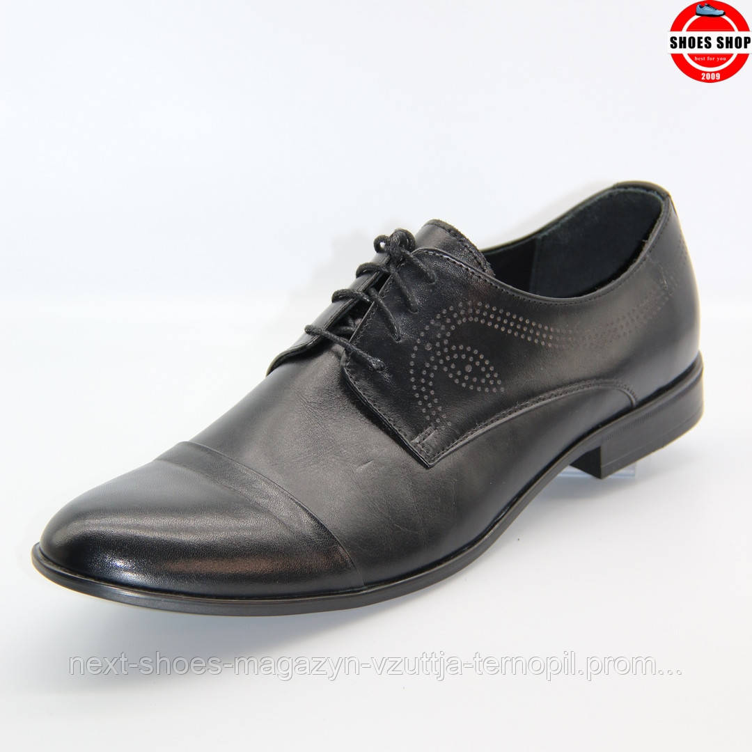 Чоловічі дерби TAPI (Польща) чорного кольору. Дуже елегантні та красиві. Стиль - Джонні Депп