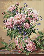 Алмазная мозаика Пионы в вазе, 40x50 см, Brushme (Брашми), фото 1