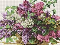 Алмазная мозаика Сирень, 30x40 см (EF217)