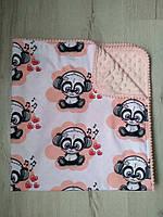 Детское одеяло Малышка панда, персик, польский хлопок