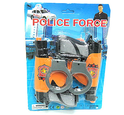 Набір поліцейського 1414-15, 2 пістолети, наручники, на планшеті, 22-31-5 см