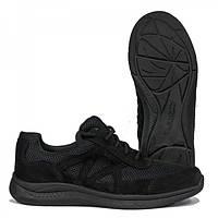 """Кросівки чоловічі, тактичні, ТМ """" STIMUL"""" Ягуар - нубук / сітка, чорні."""