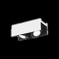 """Світильник стельовий Eglo 39316 2х5,4W LED білий/ чорний """"Відаго"""""""