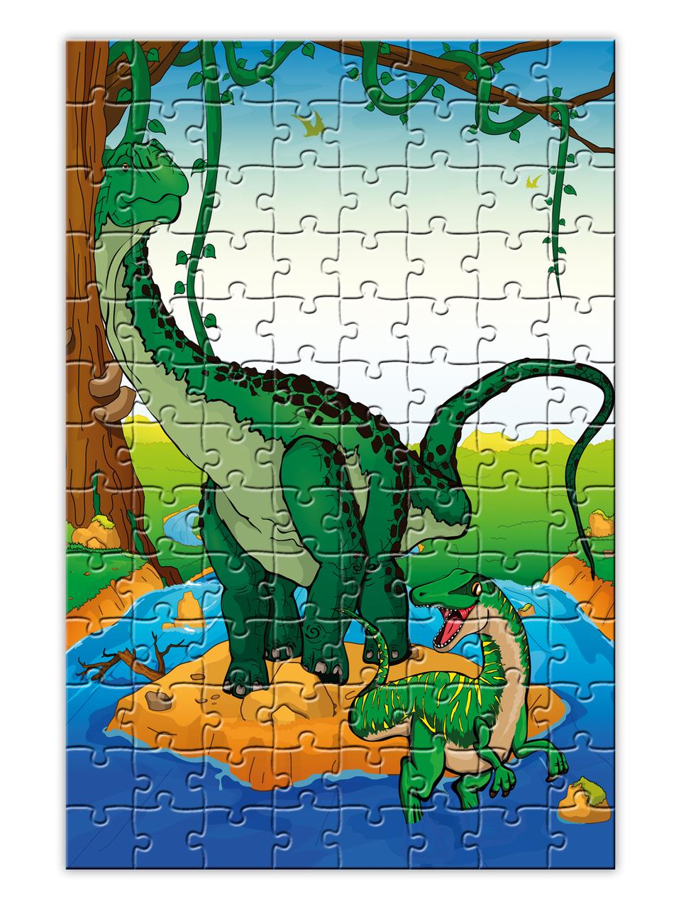 Дитячий Пазл з динозаврами