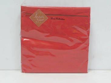 Салфетка декор (ЗЗхЗЗ, 20шт) Luxy Красная (3-7) (1 пач)