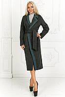 Женское пальто миди, кашемир на подкладке, размер 42