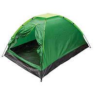 Палатка 4-х местная Зеленая  № 3-2