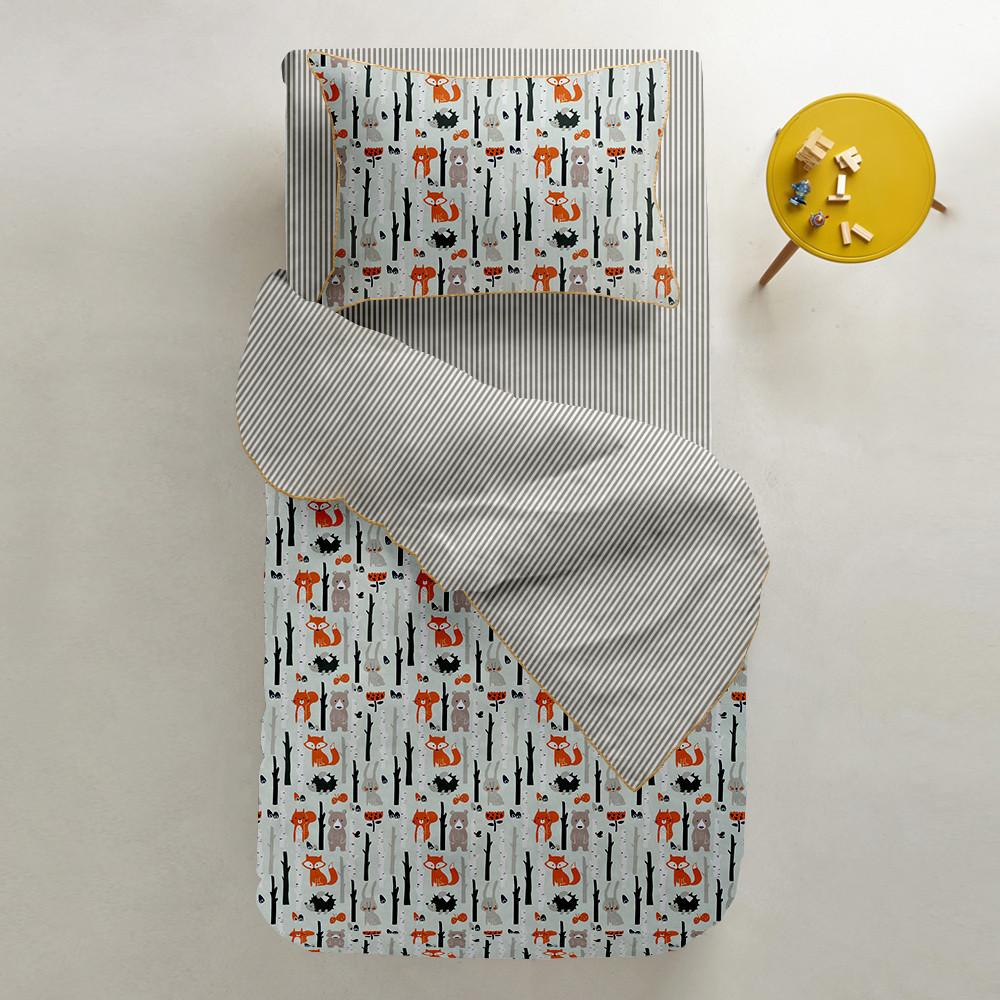 Комплект детского постельного белья WOOD /полоса бежевая/