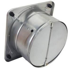 Настінний осьовий вентилятор з зворотним клапаном Турбовент НОК 400, фото 2