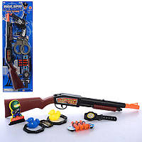 Набір поліцейського 520D-01-02 рушниця, присоски 3 шт., годинник, 2 види, листі, 19-57-3 см