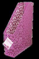 Лоток вертикальный Buromax Barocco металлический розовый