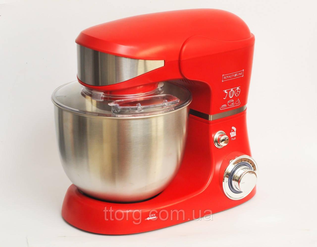 Кухонный комбайн тестомес Royalty Line RL-PKM1600 Красный 1600 Вт