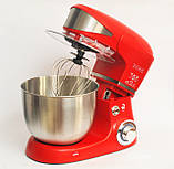 Кухонный комбайн тестомес Royalty Line RL-PKM1600 Красный 1600 Вт, фото 2