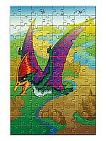 """Детский пазл с  динозавром """"Птерозавр""""  (104 или 120 элементов, А4)"""